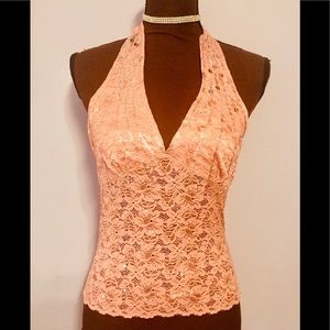 Tops - 5/$25 lace and sequins halter